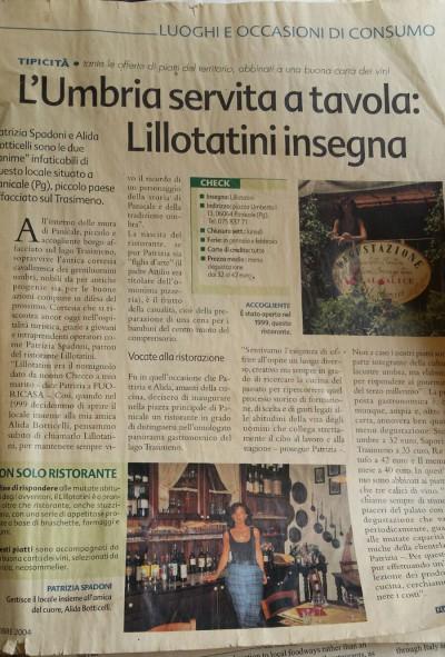 L'Umbria servita a tavola: Lillotatini insegna