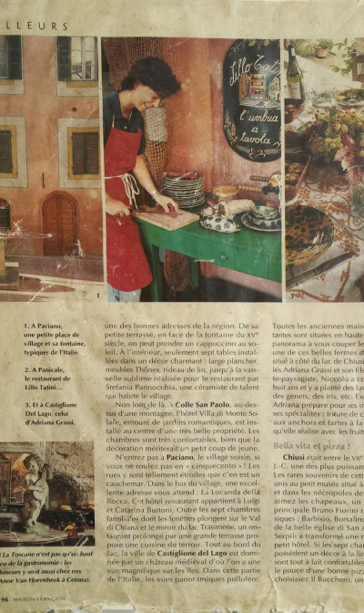 A Panicale, le restaurant de Lillo Tatini...