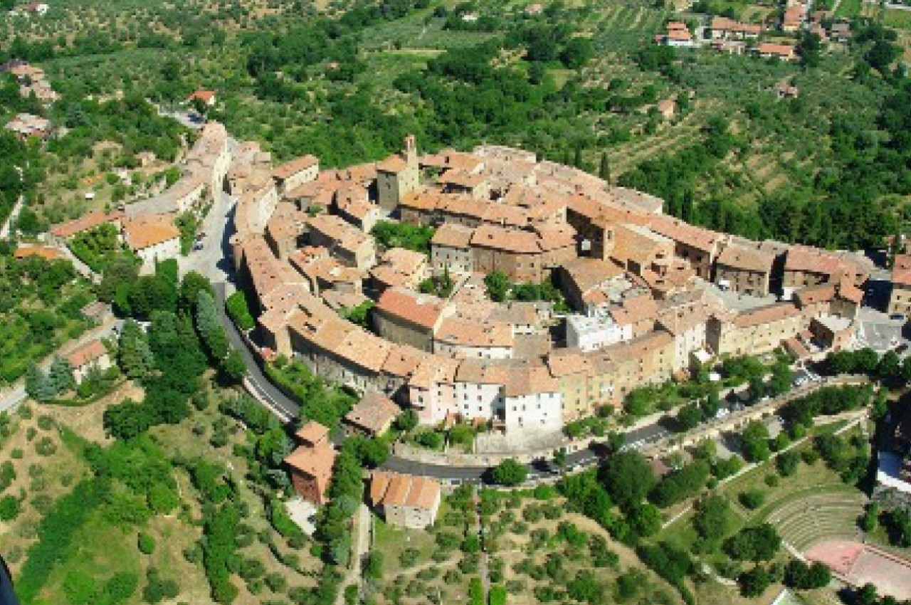 Panicale from the sky